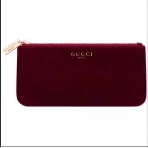 GUCCI Parfums. BURGUNDY VELVET  Cosmetic Bag